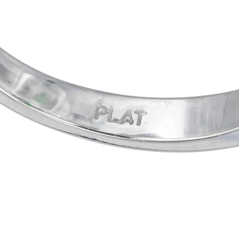 Peter Suchy GIA Certified 2.82 Carat Tsavorite Diamond Platinum Engagement Ring For Sale 1