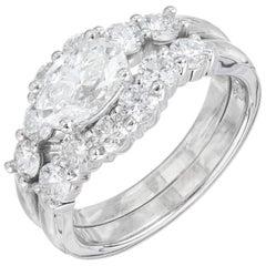 Peter Suchy GIA Certified 1.01 Carat Diamond Platinum Engagement Ring
