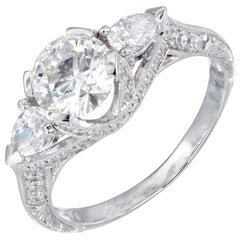 Peter Suchy GIA Certified 1.05 Carat Diamond Platinum Engagement Ring
