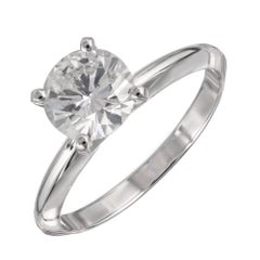 Peter Suchy GIA Certified 1.08 Carat Diamond Platinum Solitaire Engagement Ring
