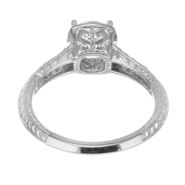 Peter Suchy GIA Certified 1.10 Cara Diamond Solitaire Gold Engagement Ring For Sale 1