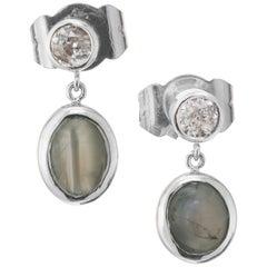 Peter Suchy GIA Certified 1.36 Carat Alexandrite Diamond Platinum Dangle Earring