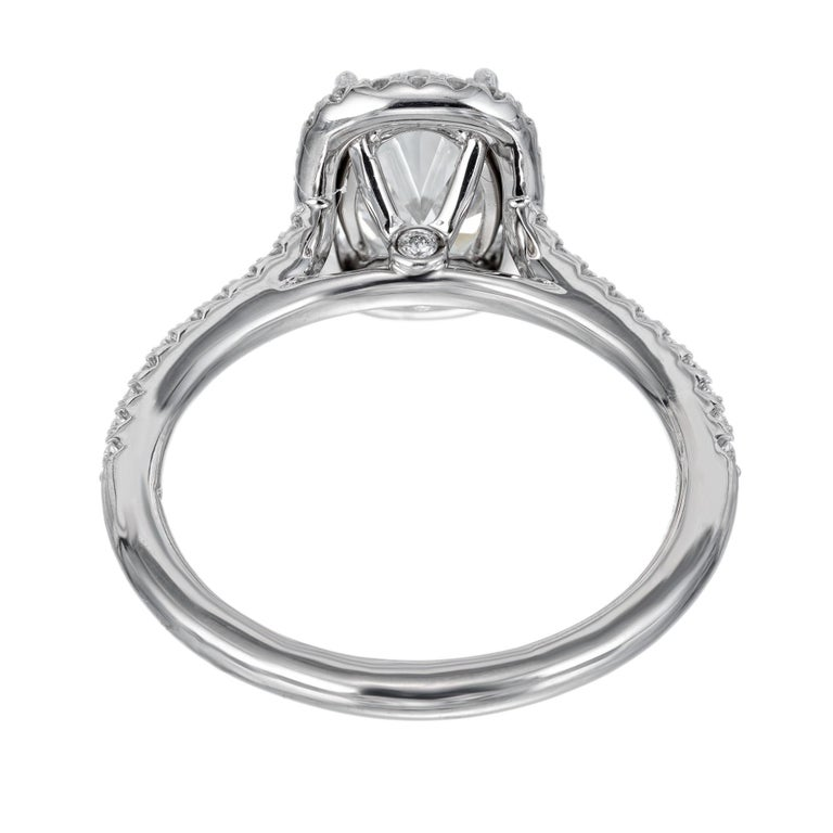 Peter Suchy GIA Certified 1.51 Carat Diamond Platinum Engagement Ring For Sale 2