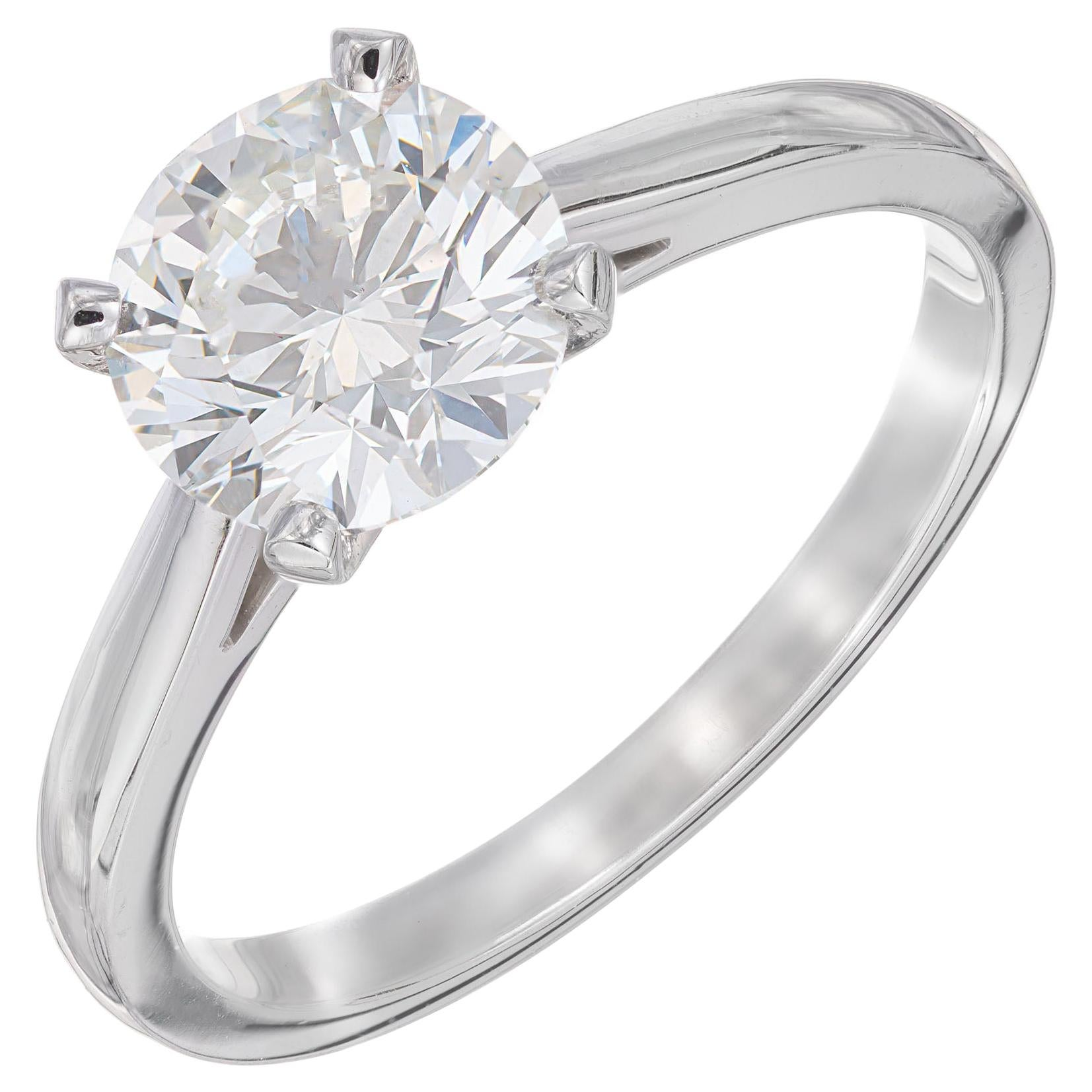 Peter Suchy GIA Certified 1.51 Carat Diamond Platinum Solitaire Engagement Ring