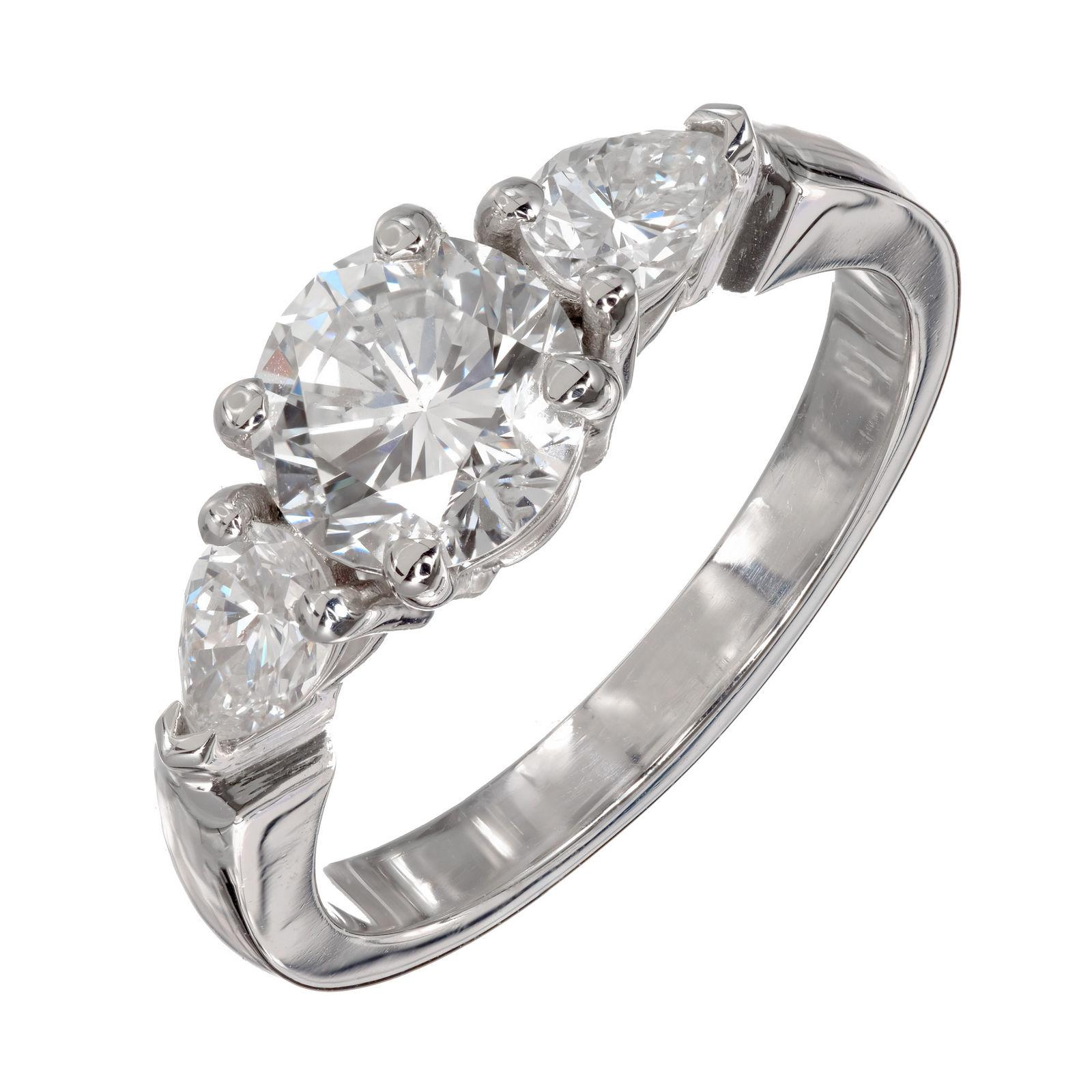 Peter Suchy GIA Certified 1.58 Carat Diamond Platinum Engagement Ring