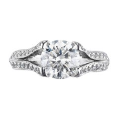 Peter Suchy GIA Certified 1.60 Carat Diamond Platinum Engagement Ring