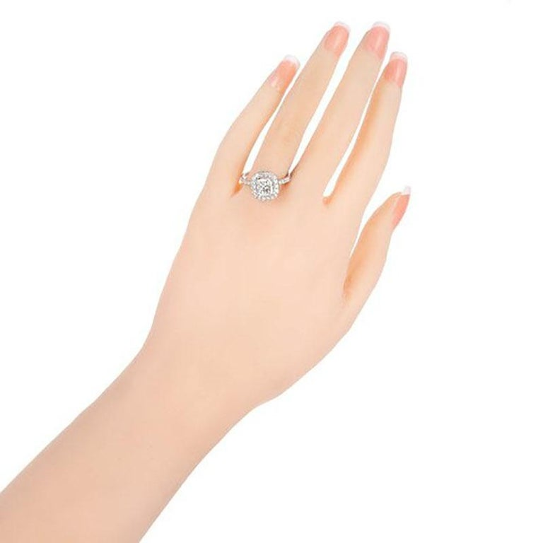 Peter Suchy GIA Certified 1.64 Carat Diamond Platinum Engagement Ring For Sale 1