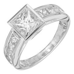 Peter Suchy GIA Certified 1.70 Carat Diamond Platinum Engagement Ring
