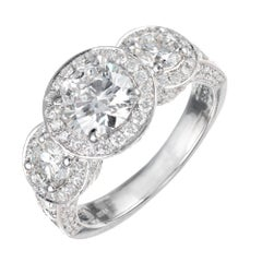 Peter Suchy GIA Certified 1.81 Carat Diamond Platinum Engagement Ring