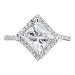 Peter Suchy GIA Certified 1.95 Carat Diamond Platinum Engagement Ring