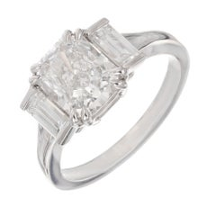 Peter Suchy GIA Certified 2.01 Carat Diamond Platinum Engagement Ring