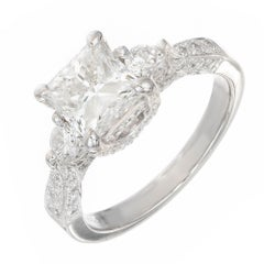 Peter Suchy GIA Certified 2.02 Carat Diamond Platinum Engagement Ring
