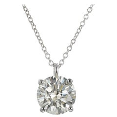 Peter Suchy GIA Certified 2.05 Carat Diamond Platinum Pendant Necklace
