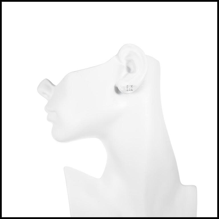 Women's Peter Suchy GIA Certified 2.08 Carat Diamond Platinum Stud Earrings For Sale