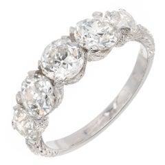 Peter Suchy GIA Certified 2.68 Carat Five-Diamond Platinum Wedding Band Ring