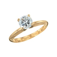 Peter Suchy GIA Certified .77 Carat Yellow Gold Solitaire Engagement Ring