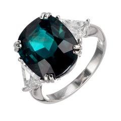Peter Suchy GIA Certified 7.90 Carat Sapphire Diamond 18 Karat Gold Ring