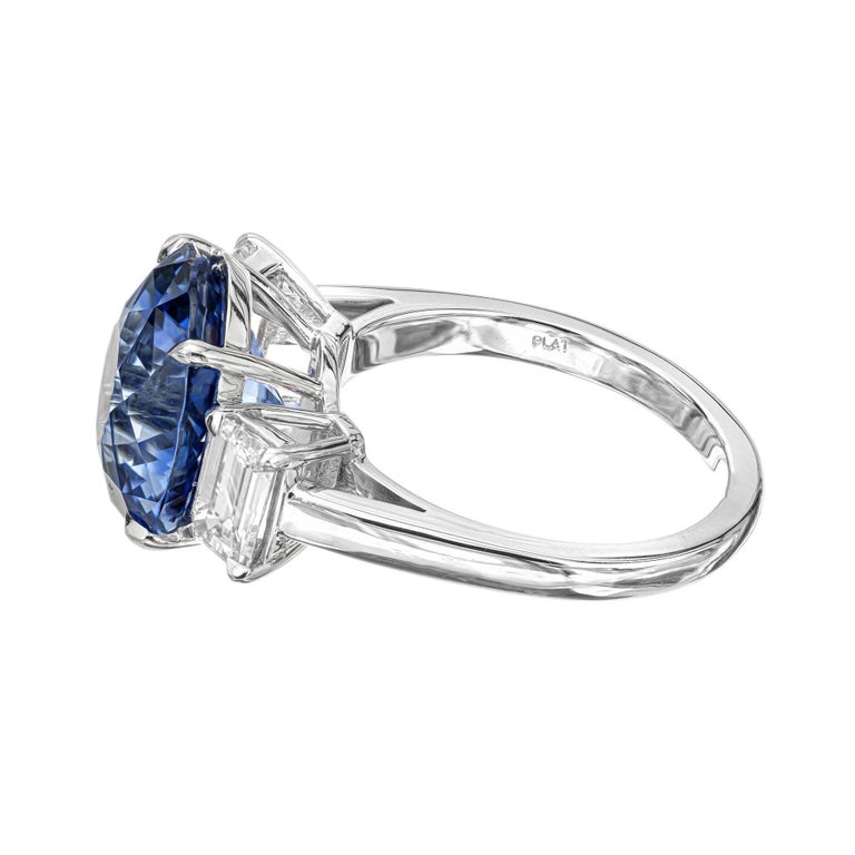 Peter Suchy GIA Certified 8.16 Carat Sapphire Diamond Engagement Platinum Ring In New Condition For Sale In Stamford, CT