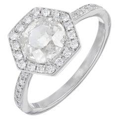 Peter Suchy GIA Certified .99 Carat Diamond Platinum Engagement Ring