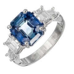 Peter Suchy 6.05 Carat Natural Sapphire Diamond Platinum Engagement Ring