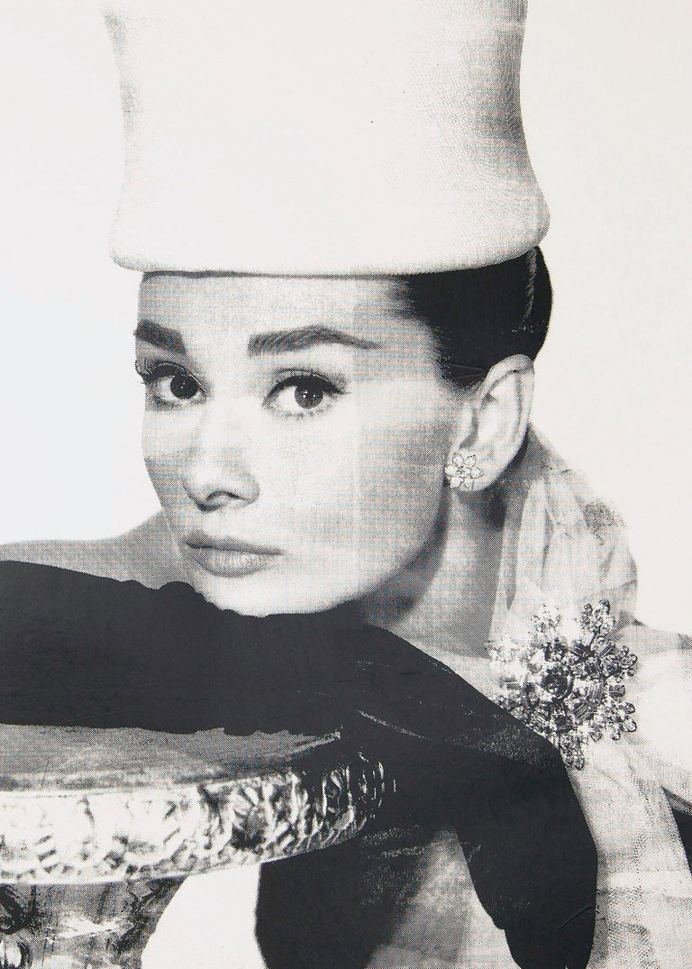 Audrey Hepburn, in Black and White, an Original by Peter Tunney For Sale 1
