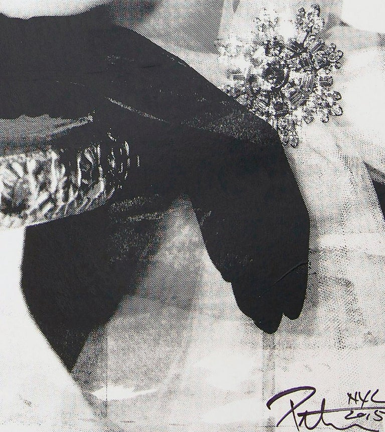 Audrey Hepburn, in Black and White, an Original by Peter Tunney For Sale 2