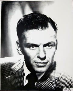 Frank Sinatra Black and White Headshot, an Original by Peter Tunney