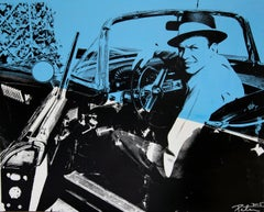 Frank Sinatra in Color Sitting in Car, an Original by Peter Tunney