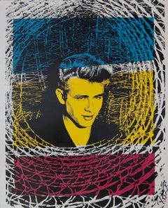 James Dean Color Headshot, an Original by Peter Tunney