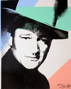 John Wayne, a Color Head shot, an Original by Peter Tunney