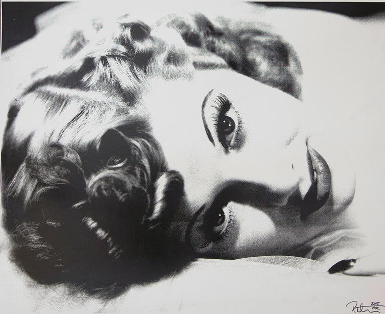 Lucille Ball in black and white, an amazing original artwork by Peter Tunney on heavy board.  Acrylic paint and hand-pulled subscreen on archival museum board. This is a original piece of art signed by the artist in 2015.  Artist Peter Tunney has