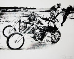 Peter Fonda, Easy Rider in Black and White, an Original by Peter Tunney
