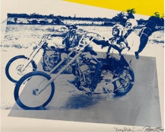 Peter Tunney 'Easy Rider' Original Signed Screen Print Collage / Peter Fonda