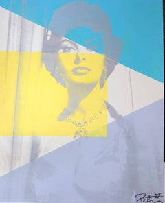 Sophia Loren Color Headshot, an Original by Peter Tunney