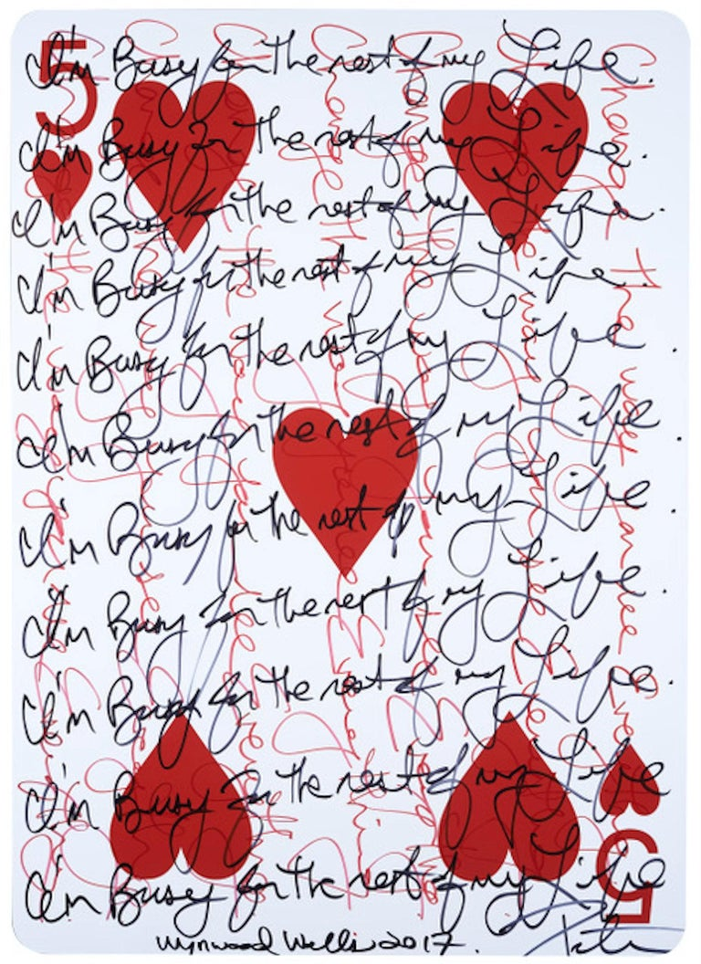 Peter Tunney Abstract Print - 5 of Hearts