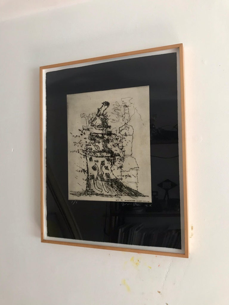 Peter Voulkos Drypoint Etching  For Sale 3