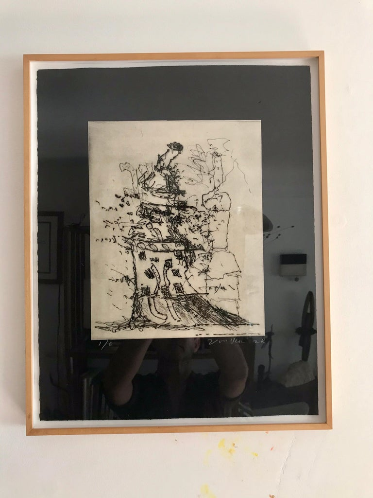 Peter Voulkos Drypoint Etching  For Sale 4