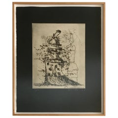 Peter Voulkos Drypoint Etching