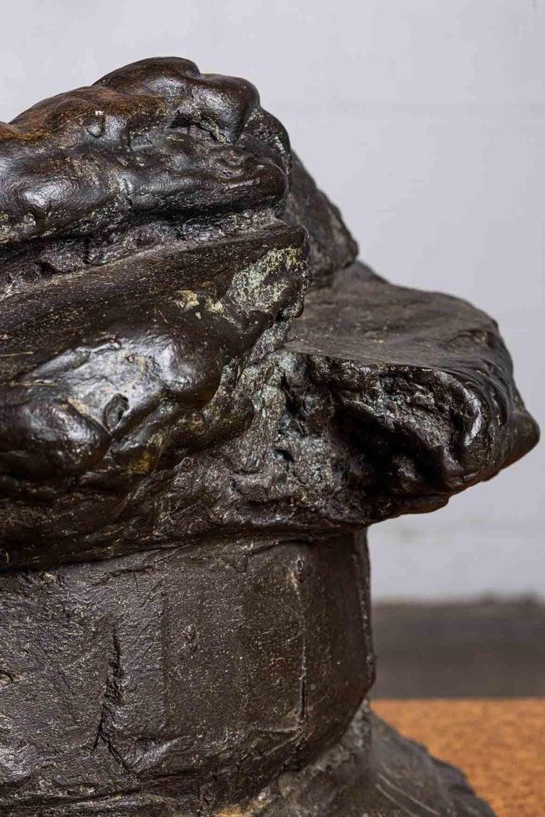 Peter Voulkos Bronze Ice Bucket, 1986 For Sale 6