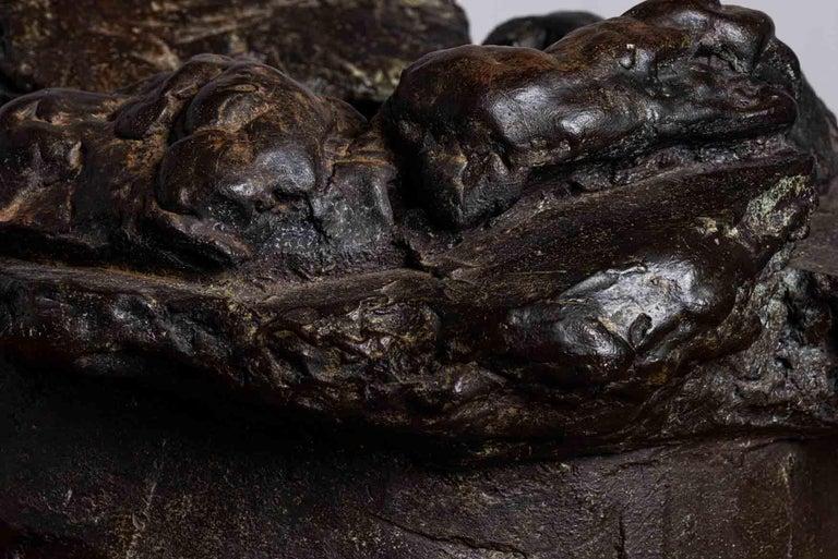 Peter Voulkos Bronze Ice Bucket, 1986 For Sale 7