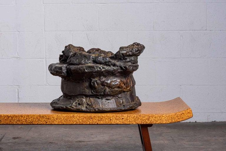 Peter Voulkos Untitled ice bucket, 1986 Bronze, # 1 of 5.