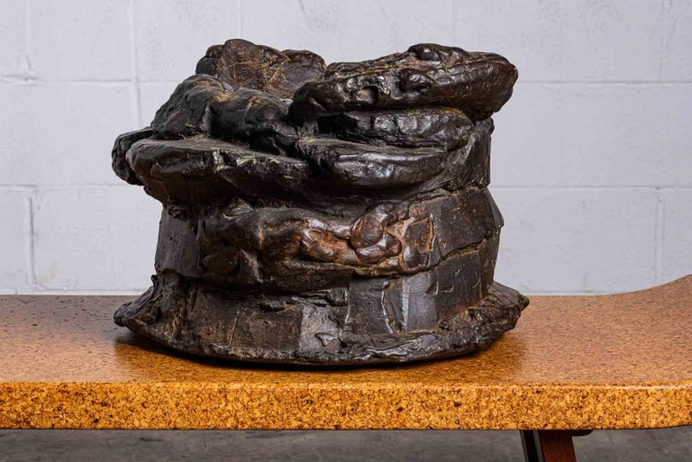 Peter Voulkos Bronze Ice Bucket, 1986 In Good Condition For Sale In Dallas, TX