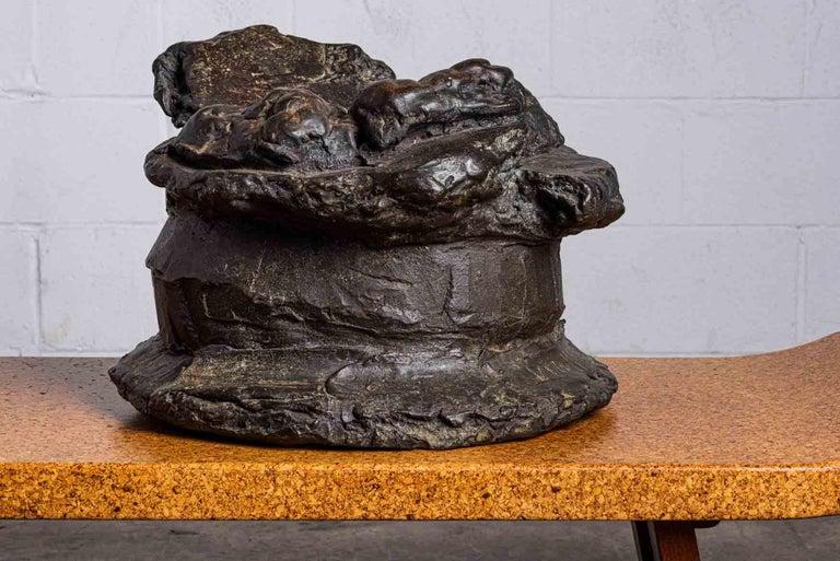 Peter Voulkos Bronze Ice Bucket, 1986 For Sale 1