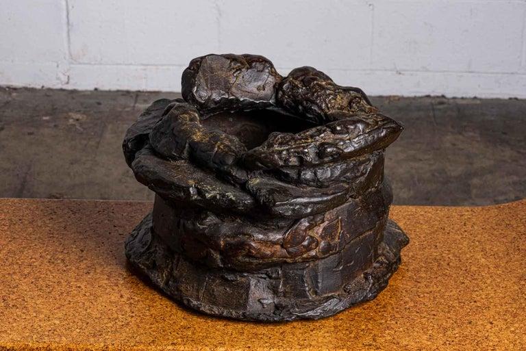 Peter Voulkos Bronze Ice Bucket, 1986 For Sale 4
