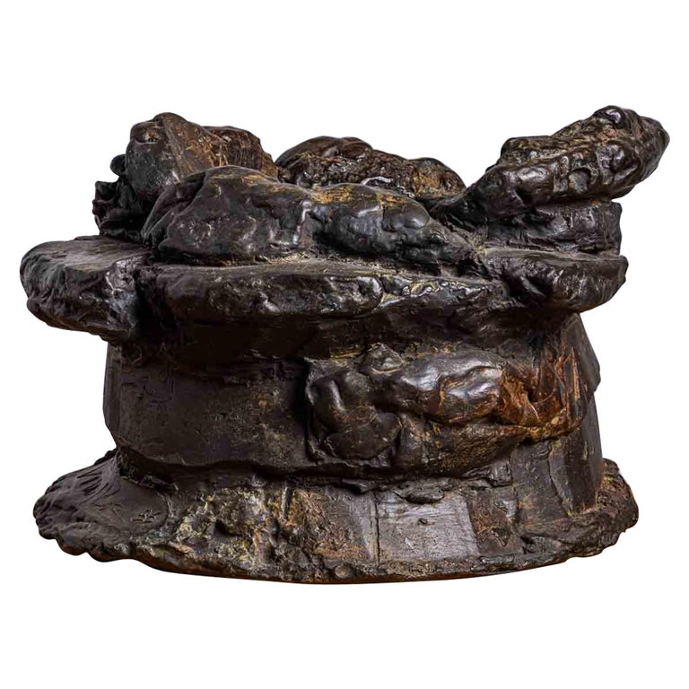 Peter Voulkos Bronze Ice Bucket, 1986 For Sale