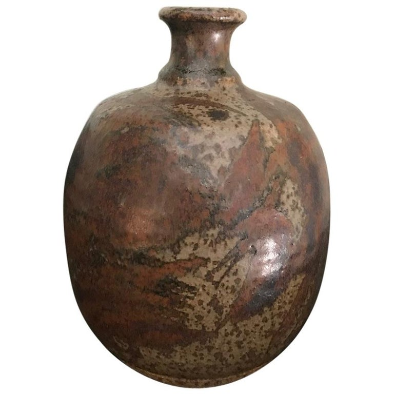Peter Voulkos Stoneware Vase For Sale