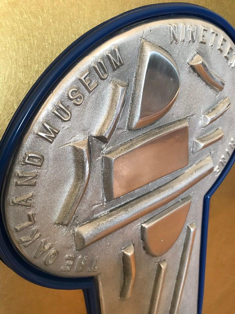 American Peter Voulkos Oakland Museum Aluminum Relief  For Sale