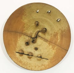 Untitled Plate (Gas-Fired Ceramic California Clay Sculpture)