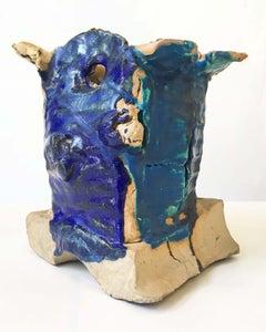 Untitled Vessel (Ceramic with Multicolor Glaze)