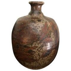 Peter Voulkos Signed Mid-Century Modern Stoneware Pottery Vase, circa 1950s